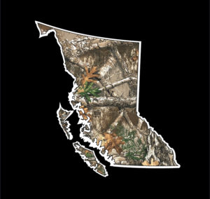 British Columbia Camouflage Decal ***FREE SHIPPING***