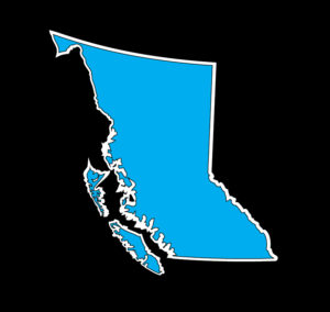 British Columbia Cyan Print Decal ***FREE SHIPPING***