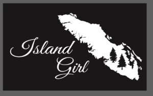 Vancouver Island Girl decal sticker with trees