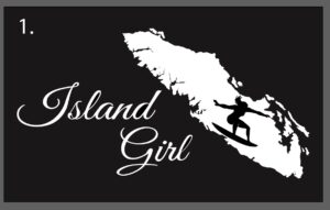 Vancouver Island Girl decal sticker surfer girl