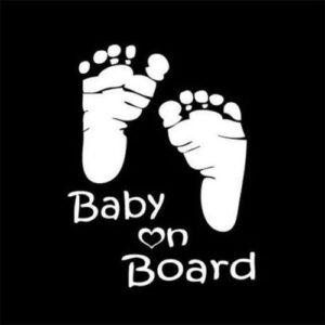 Baby On Board Little Feet Decal